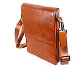 Мужская кожаная сумка Dovhani WHEAT007-55 Рыжая, фото 3