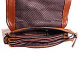 Мужская кожаная сумка Dovhani WHEAT007-55 Рыжая, фото 8