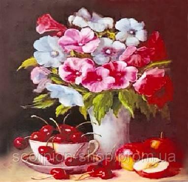 """Алмазная живопись картина """"Букет цветов"""" (30*40 см) Полная закладка"""
