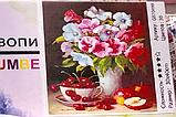 """Алмазная живопись картина """"Букет цветов"""" (30*40 см) Полная закладка, фото 2"""