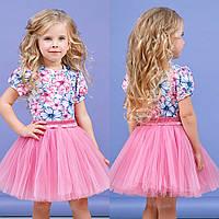 Яркий розовый комплект для девочки zironka