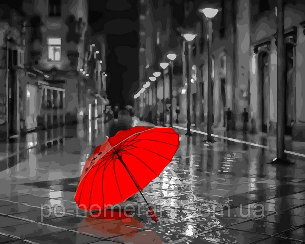 Картина по номерам Красный зонтик (BK-GX22094) 40 х 50 см (Без коробки)
