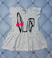 Платье девочке летнее Ушки, р. 86-92-98-104-110-116