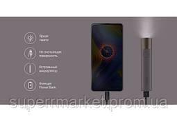 Портативный фонарик Xiaomi Solove X3 Portable Flashlight Power Bank 3000 mAh Black, фото 2