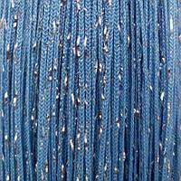 Однотонные шторы нити дождь голубые
