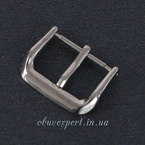 Пряжка для ремешка часов 16 мм Серебро, фото 2