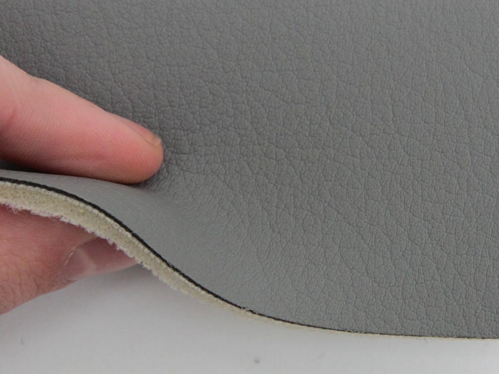 Авто кожзам, на поролоне и сетке, серый
