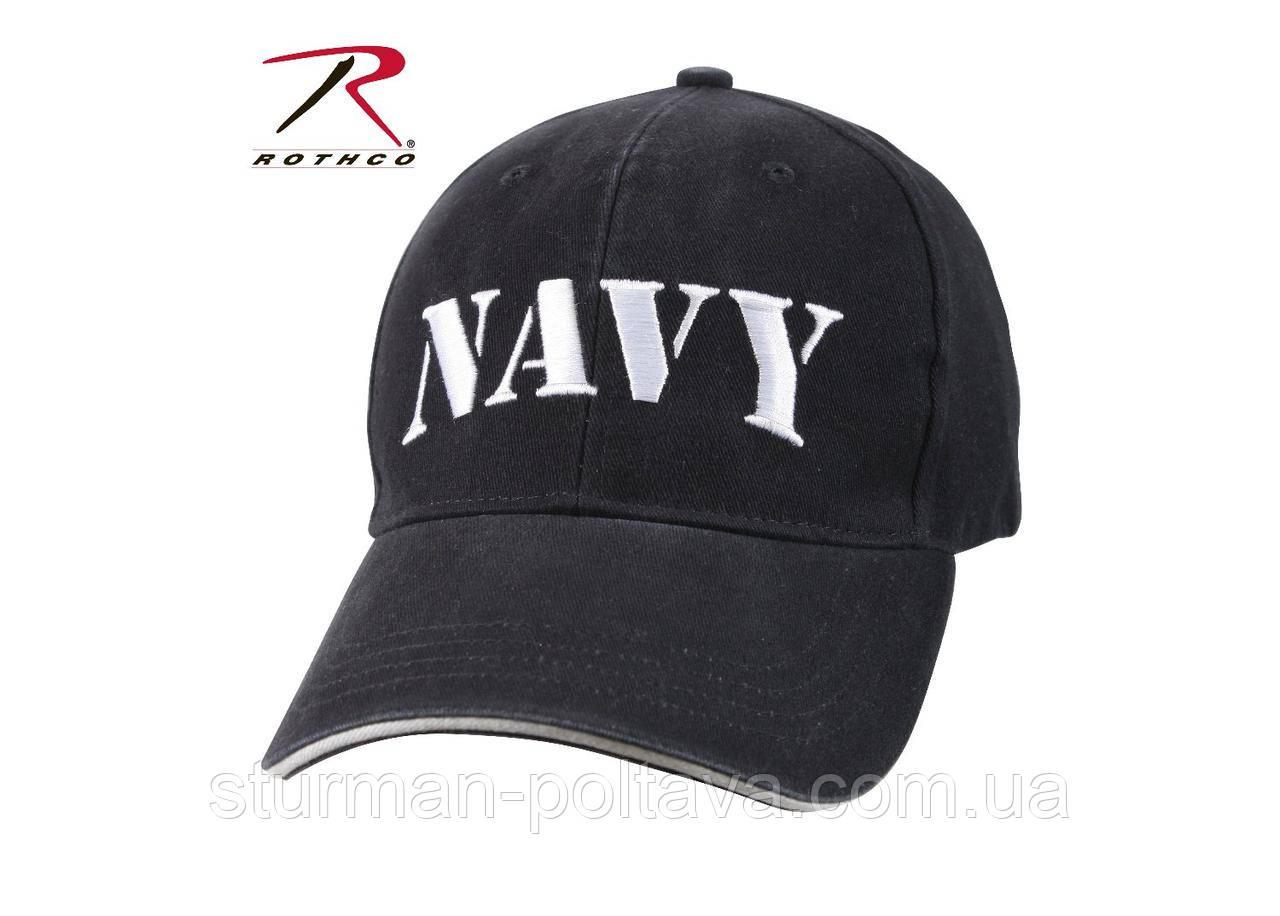 Бейсболка мужская  армейская  винтажная   Морские силы  Navy  USA  темно - синяя  Rotcho США