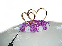 """Свадебные украшения на машину """"Двойные сердца +сердца на магните"""", фото 3"""