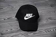Кепка Бейсболка Nike летняя шестиклинка стильная черная, фото 1