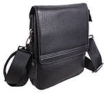 Мужская кожаная сумка Dovhani DL5317-414 Черная, фото 5