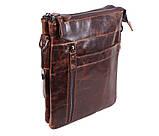 Мужская кожаная сумка Dovhani BB101010 Коричневая, фото 2