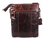 Мужская кожаная сумка Dovhani BB101010 Коричневая, фото 3