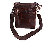 Мужская кожаная сумка Dovhani BB101010 Коричневая, фото 4