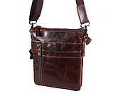 Мужская кожаная сумка Dovhani BB101010 Коричневая, фото 5