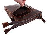 Мужская кожаная сумка Dovhani BB101010 Коричневая, фото 6
