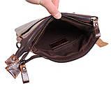 Мужская кожаная сумка Dovhani BB101010 Коричневая, фото 8