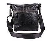 Мужская кожаная сумка Dovhani BL800667 Черная, фото 2
