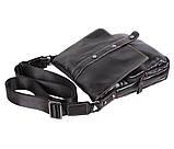 Мужская кожаная сумка Dovhani BL800667 Черная, фото 3