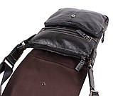 Мужская кожаная сумка Dovhani BL800667 Черная, фото 6