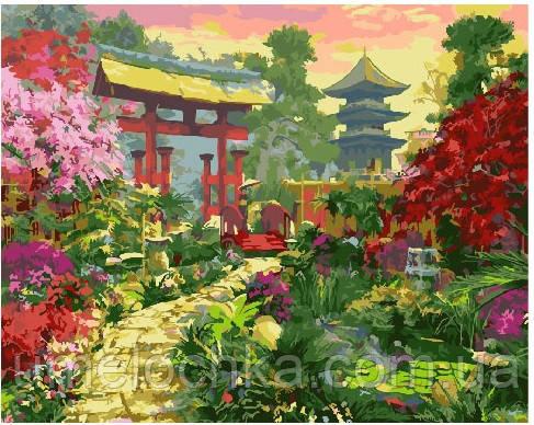 Картина по номерам Ворота в японский сад 40 х 50 см (BRM25188)