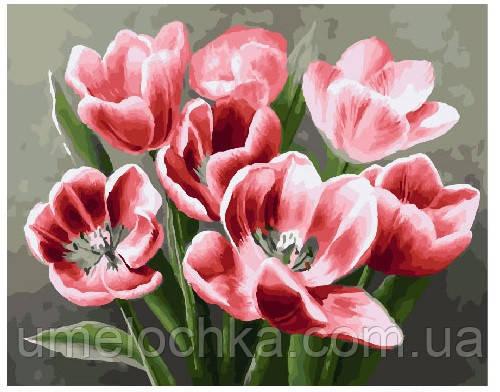 Картина по номерам Красные тюльпаны 40 х 50 см (BRM26071)