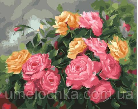 Картина по номерам Розовый куст 40 х 50 см (BRM25590)