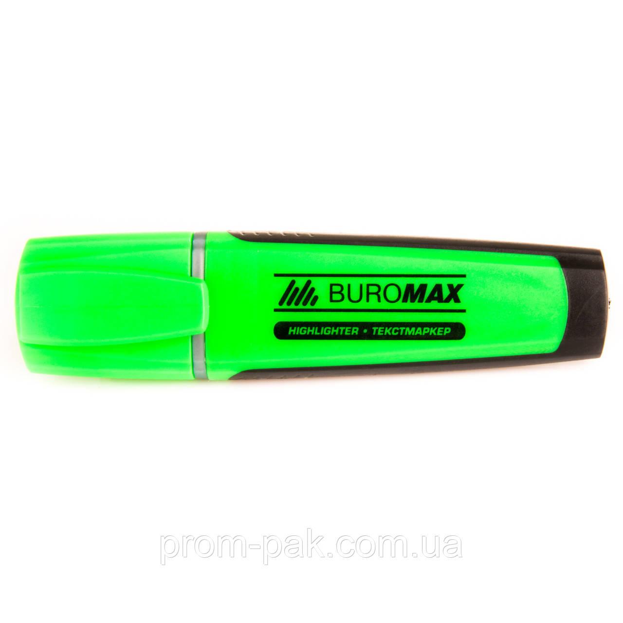Текстовый  маркер флуоресцентный Вuromax зеленый
