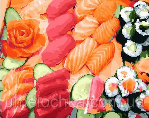 Картина по номерам Суши сет 40 х 50 см (BRM25463)