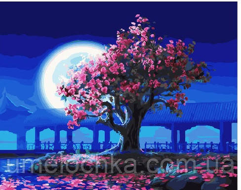 Картина по номерам Лунная сакура 40 х 50 см (BRM25275)