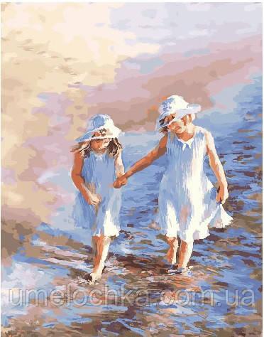 Картина по номерам Детки у моря 40 х 50 см (BRM25242)