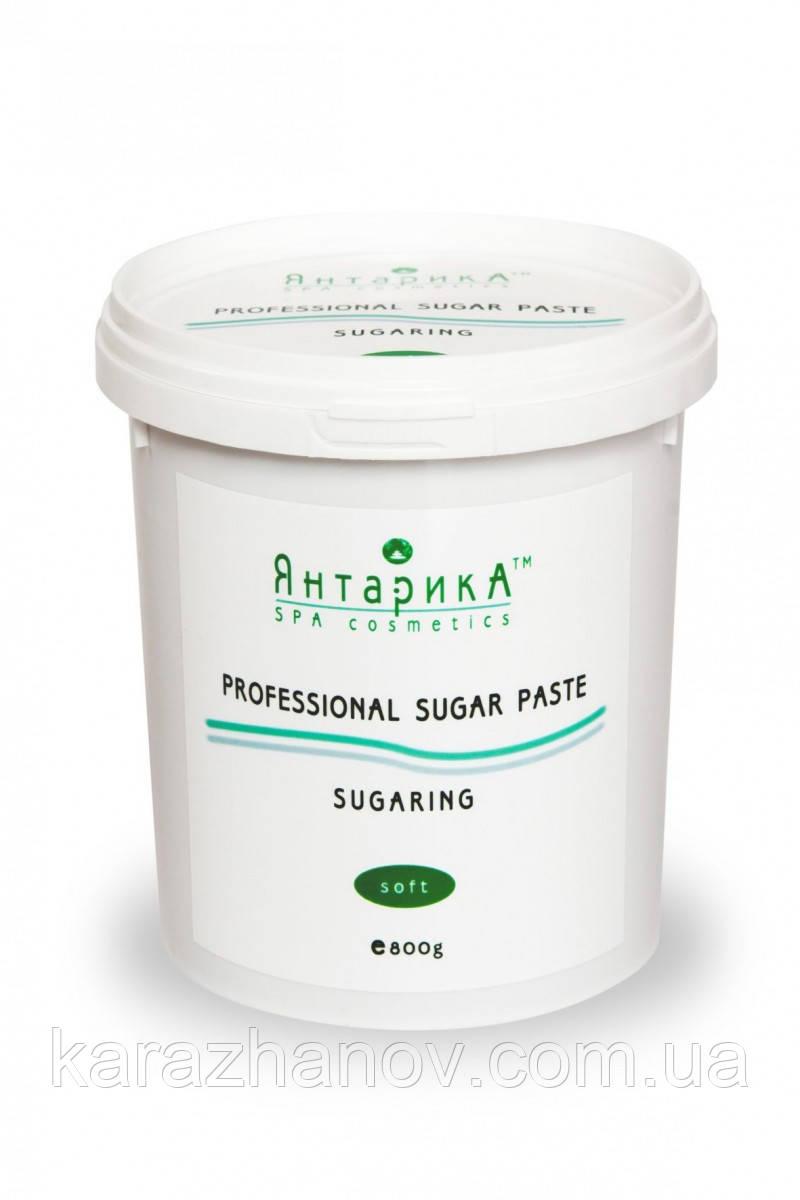 Сахарная паста для шугаринга ЯнтарикА мягкая 800 грамм