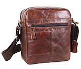 Мужская кожаная сумка Dovhani BR5296-112 Коричневая, фото 3