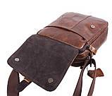 Мужская кожаная сумка Dovhani BR5296-112 Коричневая, фото 5