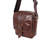 Мужская кожаная сумка Dovhani BR5296-112 Коричневая, фото 6
