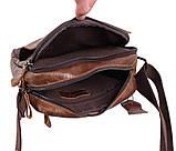 Мужская кожаная сумка Dovhani BR5296-112 Коричневая, фото 7