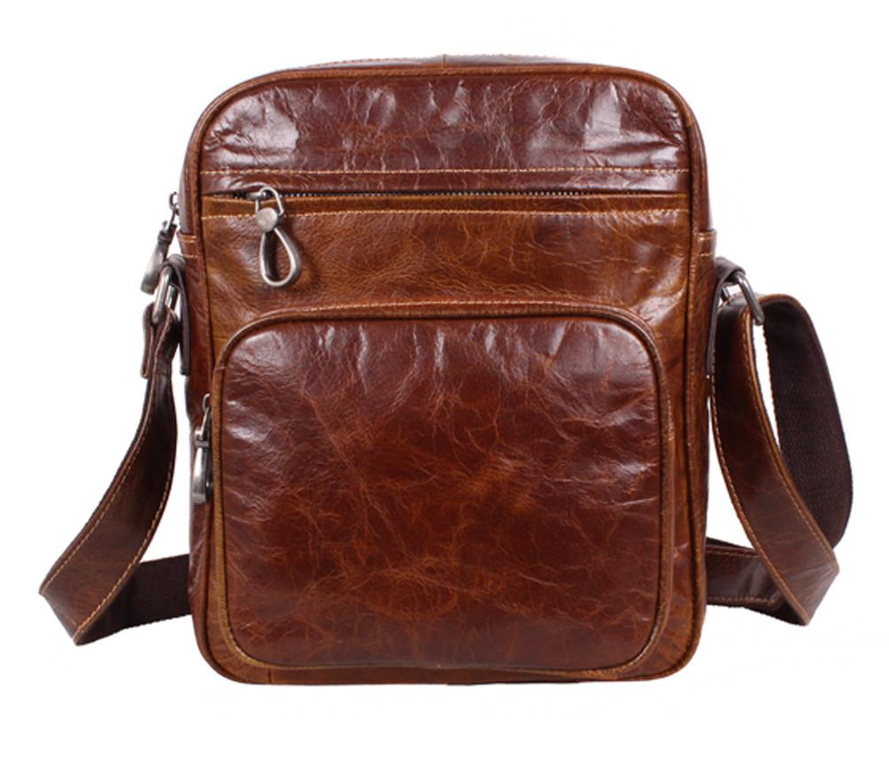 Мужская кожаная сумка Dovhani LA3225-235 Коричневая