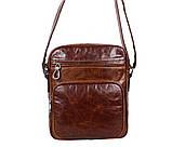 Мужская кожаная сумка Dovhani LA3225-235 Коричневая, фото 4
