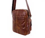 Мужская кожаная сумка Dovhani LA3225-235 Коричневая, фото 5