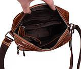 Мужская кожаная сумка Dovhani LA3225-235 Коричневая, фото 6