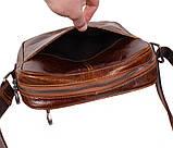 Мужская кожаная сумка Dovhani LA3225-235 Коричневая, фото 7