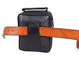 Мужская кожаная сумка Dovhani 1-501015 Черная, фото 3