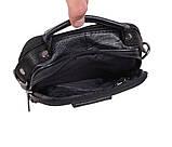 Мужская кожаная сумка Dovhani 1-501015 Черная, фото 9