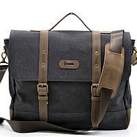 Мужская сумка-портфель из парусины  с кожаными вставками RG-0001-4lx бренда TARWA