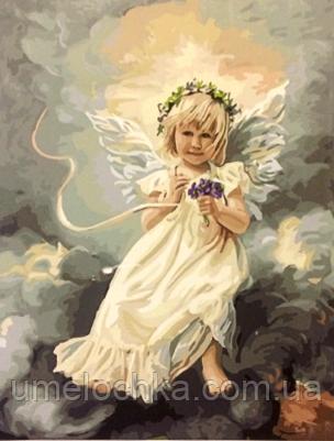 Картина по номерам Ангелочек на небе 40 х 50 см (BRM21472)