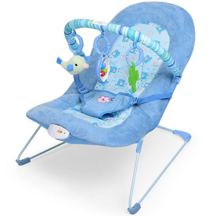 Шезлонг-качалка для детей Joymaker 30606 розовый и голубой