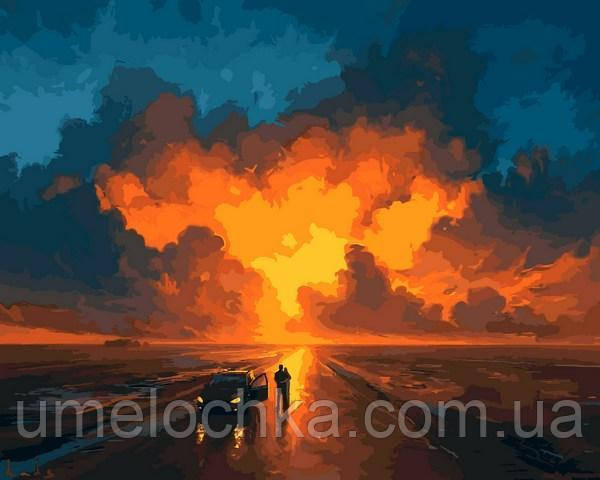 Картина по номерам Закатное небо 40 х 50 см (VP1076)