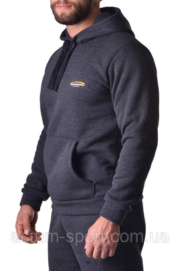 Толстовка с капюшоном без молнии с начесом BERSERK PREMIUM dark grey XL