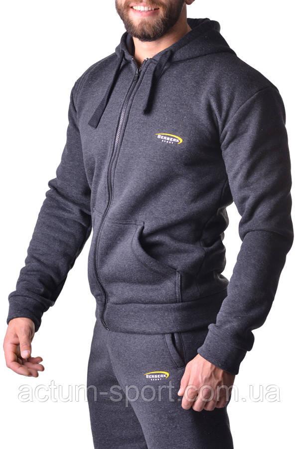 Толстовка с капюшоном на молнии с начесом BERSERK PRAGMATIC dark grey XXL