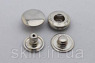 Кнопка альфа, диаметр шляпки - 15 мм, диаметр ножки - 6 мм., цвет - никель, в упаковке - 20 шт., арт. СК 5017
